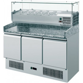 Saladette Refrigerata per Pizzeria - GN 1/1 - cm 140